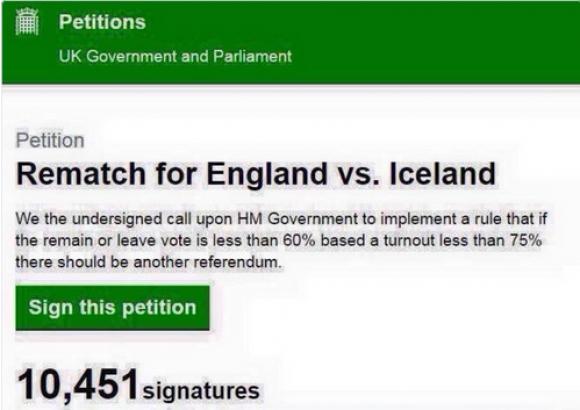 Пускат петиция за преиграване на Англия - Исландия