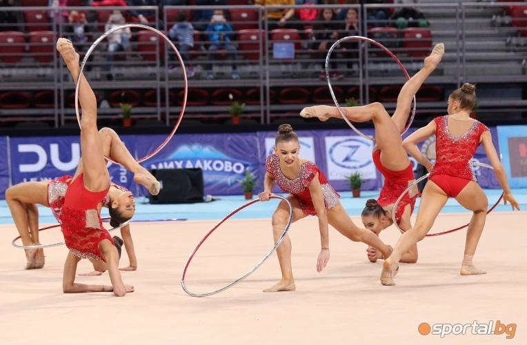 Българският ансамбъл по художествена гимнастика на Sofia World Cup