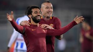 """Рома се позабавлява на """"Адриатико"""" и се бетонира на второто място (видео)"""