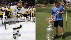Шампион в НХЛ изуми - напълни Купа Стенли с хотдог