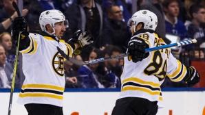Бостън се доближи на победа от втория кръг в плейофите на Изток в НХЛ