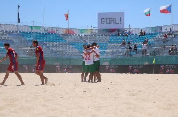 България изпълни важна цел в Евролигата по плажен футбол