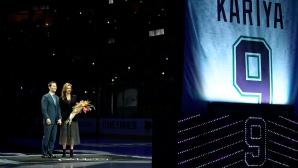 Пол Кария в Залата на славата, Анахайм извади номера му от употреба