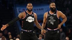 """Отборът на ЛеБрон спечели """"Мача на звездите"""" в НБА след обрат (видео + галерия)"""
