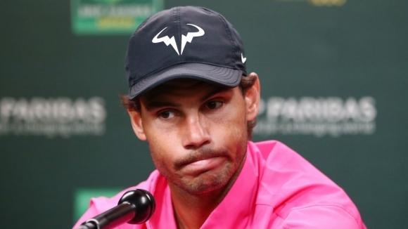 Надал се отказа от полуфиналния сблъсък с Федерер в Индиън Уелс