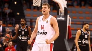 Везенков беше най-резултатен за победа на Олимпиакос в Евролигата